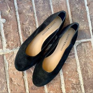 Lucky Brand black Suede Ballet Flats size 6.5
